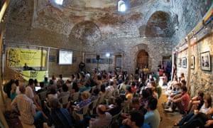 Debate at Dokufest, Kosovo