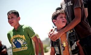 Funeral ceremony of Palestinian siblings killed in Israeli airstrikes