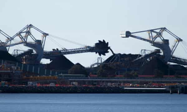A coal loading terminal in Newcastle, Australia