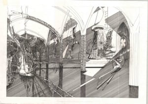 flooded cathedral drawing