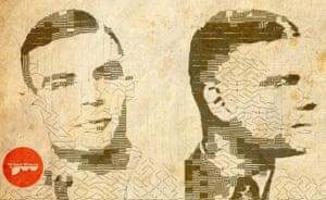alan turing front and side profile digital artwork