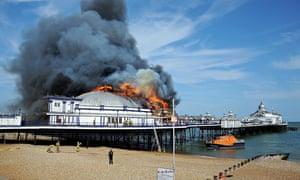 Eastbourne Pier Fire, Eastbourne, Britain - 30 Jul 2014