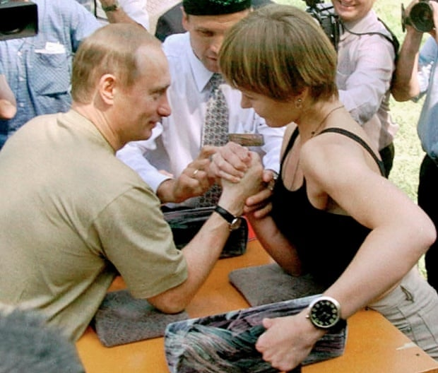 At a festival in central Russia  Putin defeated a young woman at arm    Vladimir Putin Hunting Tiger