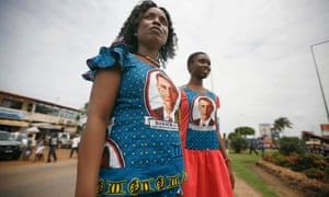 Ghanaian women show their support for Barack Obama during the US president's visit to Africa in July 2009.