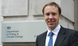 Matthew Hancock who has been appointed as Minister of State for Business, Enterprise and Energy arrives at DECC