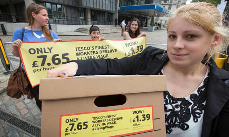 Amy Bradley of campaign group Share Action at Tesco's 2014 AGM