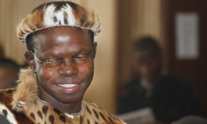 Swazi lawyer Thulani Maseko appears in court during his trial in traditional clothing in June 2014. Maseko delivered a blistering attack on the Swazi judiciary and political system.