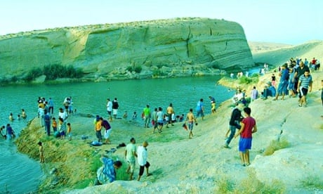 Image result for A mysterious lake, over 10 m deep, appeared overnight in the drought stricken Tunisian desert