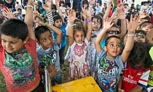 Children at Living Islam festival