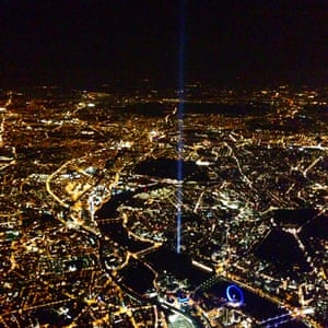 The view of from the Metropolitan Police helicopter by John Roberts.