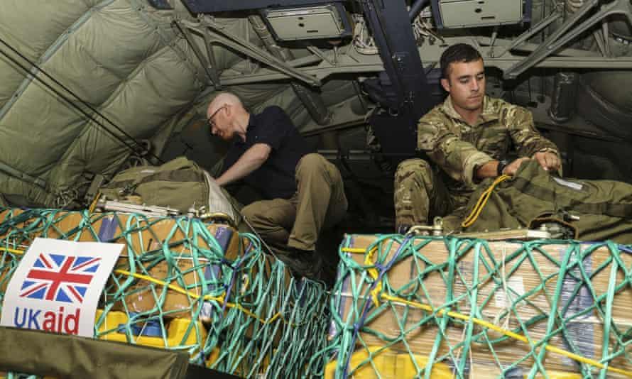 uk aid iraq c-130