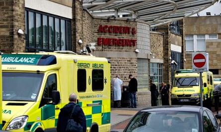 Ambulances outside an A&E department