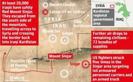 Iraq air strikes graphic