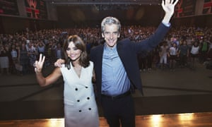 Peter Capaldi and Jenna Coleman at Doctor Who, Seoul event