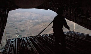 Humanitarian airdrop mission over Iraq