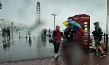 Storm Bertha Hits Brighton