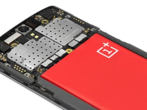 OnePlus One phone - back cover off