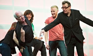 Stephen Frost, Josie Lawrence and Greg Proops in What Does the Title Matter Anyway?