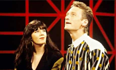 Josie Lawrence with Ryan Stiles in the original Whose Line is it Anyway?
