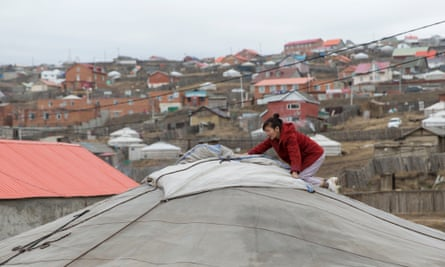 Many who now live in the ger district are former herders, pulled into the city by the promise of a new life, and fleeing increasingly harsh winters.