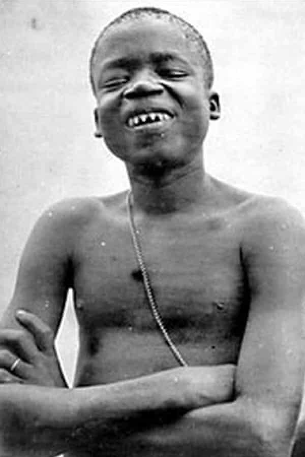 In 1906, Congolese pygmy Ota Benga was put on display at theBronx zoo in New York alongside the apes and giraffes