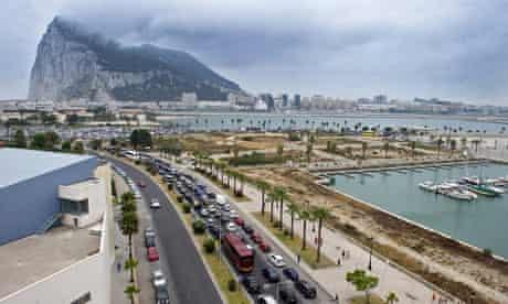 Border crossing between Spain and Gibraltar