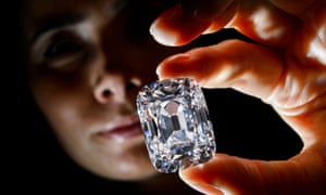 """The """"Archduke Joseph"""" historical diamond on at Christie's auction preview in Geneva, estimated at $20m."""