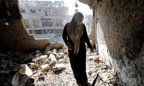 gaza city home destruction