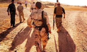 Kurdish soldiers near Kirkuk