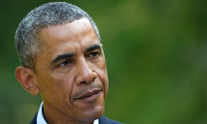 """""""Today Iraq took a promising step forward"""": U.S. President Barack Obama delivers a statement on the situation in Iraq from his vacation home at Martha's Vineyard, Massachusetts August 11, 2014. Photograph: KEVIN LAMARQUE/REUTERS"""