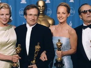 Kim Basinger, Robin Williams, Helen Hunt & Jack Nicholson, Oscar winners 1998.
