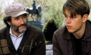 Robin Williams with Matt Damon in 1997's Good Will Hunting