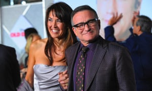 Robin Williams with his wife Susan Schneider at a film premiere in 2009.