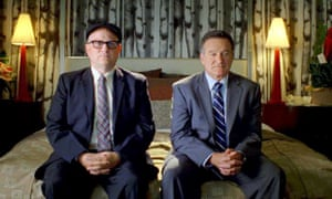 Robin Williams with Bobcat Goldthwait in the 2009 black comedy, World's Greatest Dad.