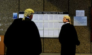 Barristers review court lists outside the supreme court of NSW