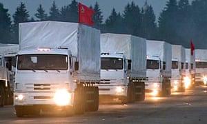 Russian aid convoy heading to eastern Ukraine