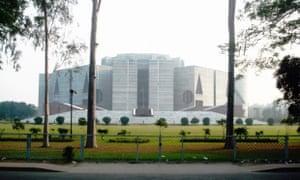The Parliament Building at Sher-e-Bangla Nagar, Dhaka