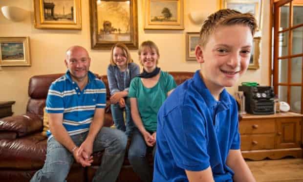 Kieron Williamson and family