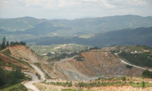 The Marlin mine in western Guatemala owned by Canadian firm Goldcorp.