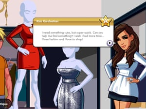 Kim Kardashian stars in her own game. She'll even let you pop round to her gaff.