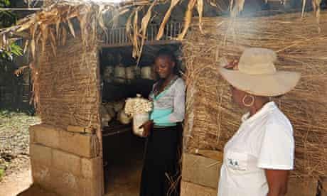 The Future of Hope's mushroom project in Zimbabwe.