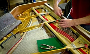 Piano insides string