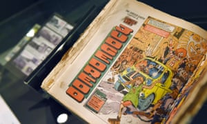 An early copy of the Judge Dredd comic strip