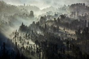 The Bromo Tengger Semeru National Park where the Tenggerese Hindu Yadnya Kasada festival is held
