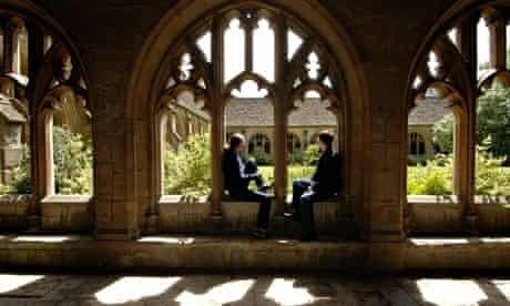 Students at New College, Oxford