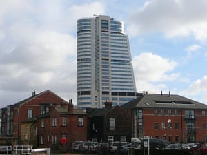Killer tower … Birdgewater Place looms above the streets of Leeds as the tallest building in Yorkshire.