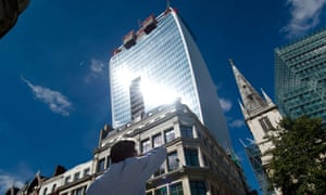 Walkie Scorchie … The concave facade of 20 Fenchurch Street channelled the sun's rays in a lethal beam.