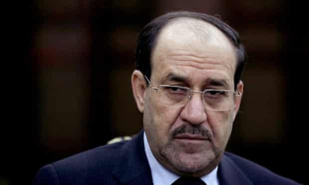 In this Wednesday, Feb. 27, 2013, file photo, Iraqi Prime Minister Nouri al-Maliki listens to a question during an interview with The Associated Press in Baghdad.
