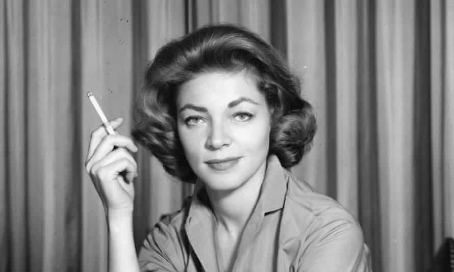 A publicity portrait of Lauren Bacall from 1958.