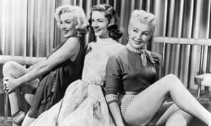 Lauren Bacall (centre) with Marilyn Monroe (left) and Betty Grable in How to Marry a Millionaire